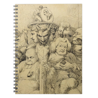 Literary Characters Assembled Around the Medallion Notebook