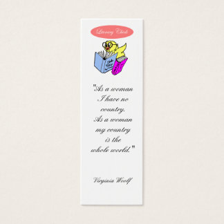 Literary Chick Bookmark to Customize Mini Business Card