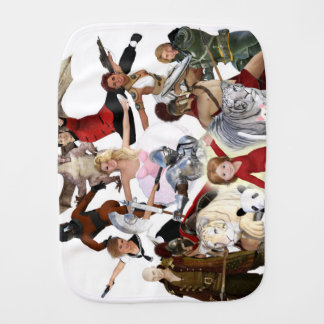Literary Classics and Fictional Characters Dreamed Burp Cloth