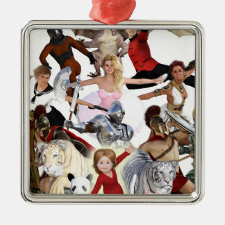 Literary Classics and Fictional Characters Dreamed Metal Ornament