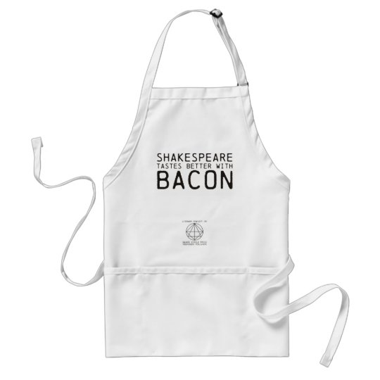 Literary Genius: Shakespeare with Bacon Adult Apron