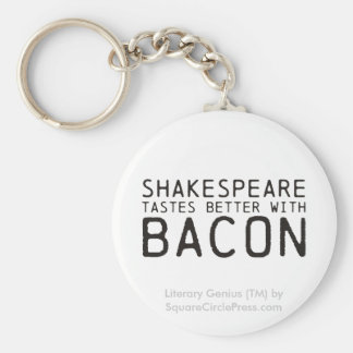 Literary Genius: Shakespeare with Bacon Keychain