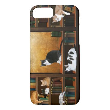 deemac1 Literary kitty cats iPhone 7 case