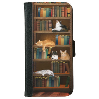 Literary kitty cats iPhone 6 wallet case