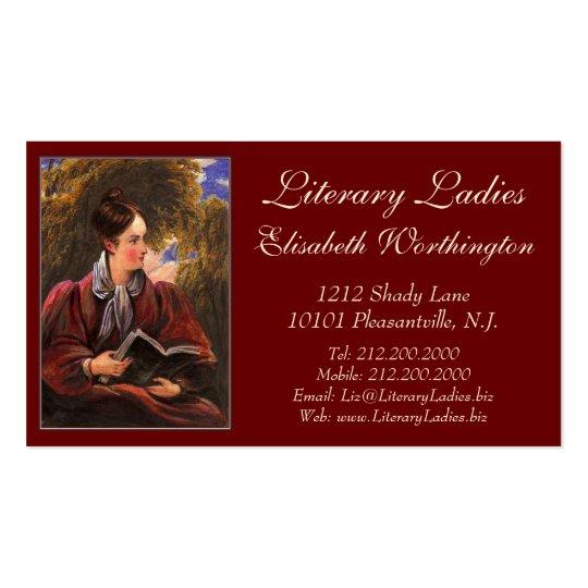 Literary Ladies Bookshop, Book Fair, Book Club Business Card