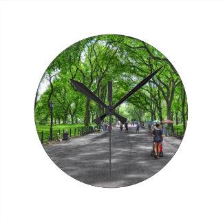 Literary Walk- Central Park, New York Wallclock