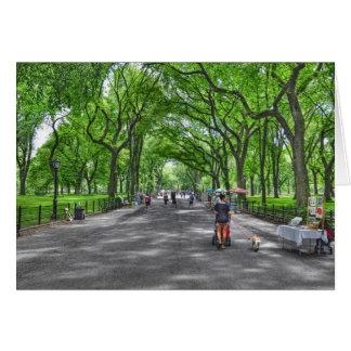 Literary Walk- Central Park, New York Greeting Card
