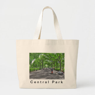 Literary Walk- Central Park, New York Large Tote Bag