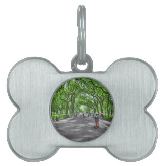 Literary Walk- Central Park, New York Pet ID Tags