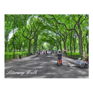 Literary Walk- Central Park, New York Postcard