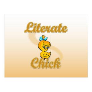 Literate Chick Postcard