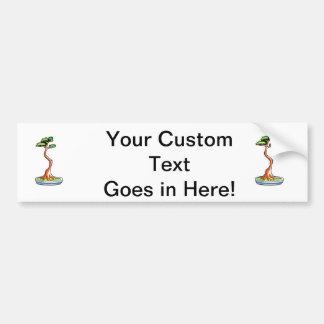 literati bonsai tree graphic car bumper sticker