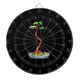 literati bonsai tree graphic dartboard with darts