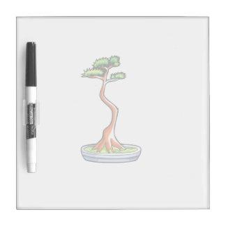 literati bonsai tree graphic dry erase board