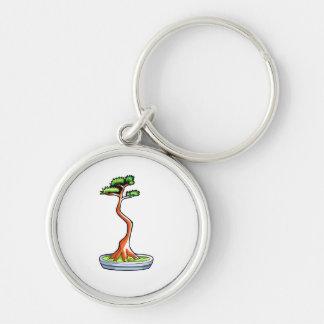 literati bonsai tree graphic keychain
