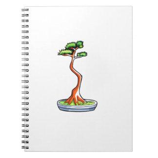literati bonsai tree graphic spiral notebook