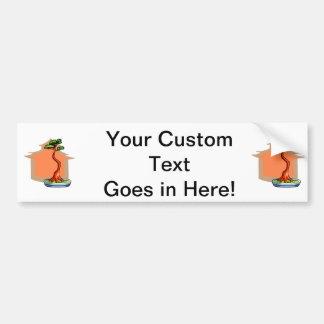 Literati Bonsai With House Bonsai Graphic Image Car Bumper Sticker