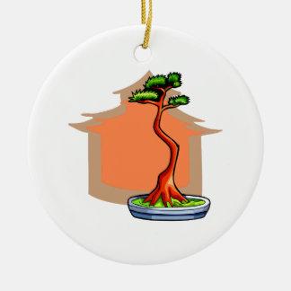 Literati Bonsai With House Bonsai Graphic Image Christmas Tree Ornaments