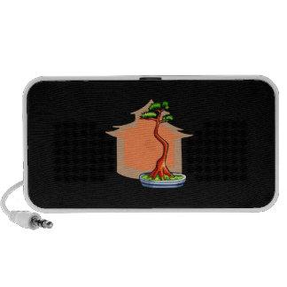 Literati Bonsai With House Bonsai Graphic Image Portable Speakers