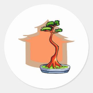 Literati Bonsai With House Bonsai Graphic Image Stickers