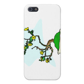 Literati bonsai yellow flowers in white pot graphi cover for iPhone SE/5/5s
