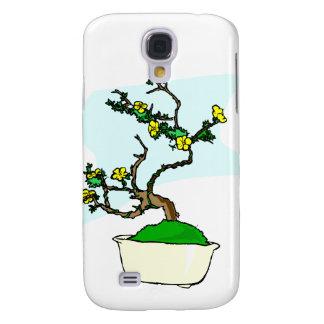 Literati bonsai yellow flowers in white pot graphi samsung s4 case