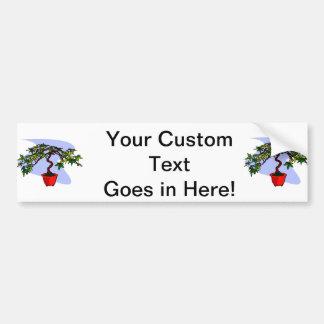 Literati Maple Bonsai Graphic Image Car Bumper Sticker