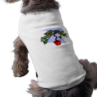 Literati Maple Bonsai Graphic Image Pet Tee