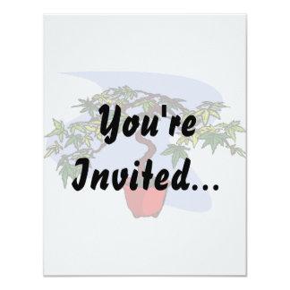 Literati Maple Bonsai Graphic Image Custom Invite