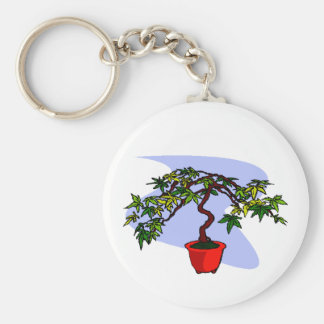 Literati Maple Bonsai Graphic Image Keychain
