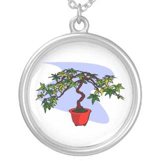 Literati Maple Bonsai Graphic Image Necklaces