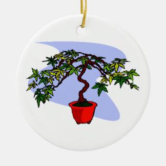 Literati Maple Bonsai Graphic Image Christmas Tree Ornaments