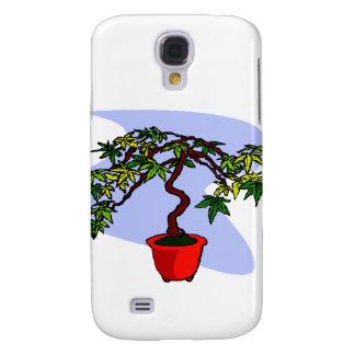 Literati Maple Bonsai Graphic Image Samsung S4 Case
