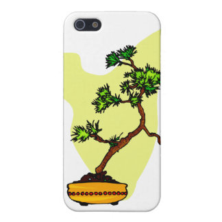 Literati Pine in yellow pot Cover For iPhone SE/5/5s
