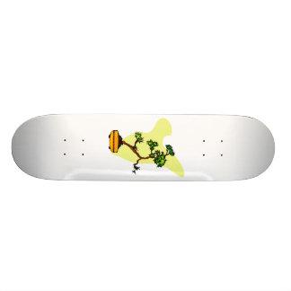 Literati Pine in yellow pot Skateboard Deck