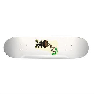 Literati torcido en pote en imagen del gráfico del skateboard