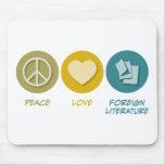 Literatura extranjera del amor de la paz tapete de raton