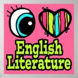 Literatura inglesa del ojo del amor brillante del  impresiones