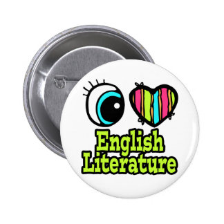 Literatura inglesa del ojo del amor brillante del  pins