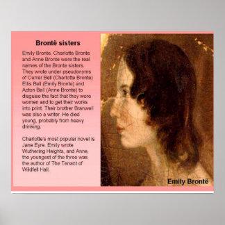 Literatura, siglo XIX, hermanas de Bronte Póster