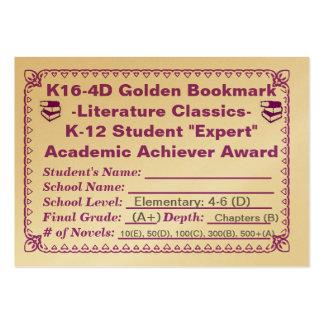~Literature de oro Classics~100ct de la señal de K Tarjeta De Visita