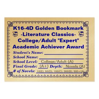 ~Literature de oro Classics~100ct de la señal de K Plantillas De Tarjetas De Visita