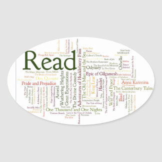 Literature Inspired Items Oval Sticker