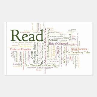 Literature Inspired Items Rectangular Sticker
