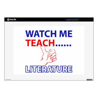 "LITERATURE Teacher 15"" Laptop Skins"