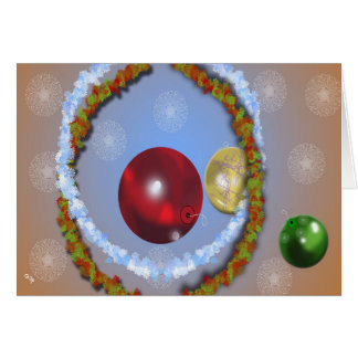 Lites and Ornaments Greeting Card