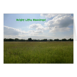 Litha Blessings Hay Meadow Greeting Card