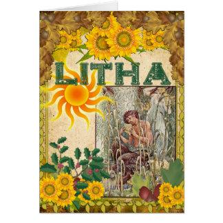 Litha Summer Solstice Pagan Greeting Card
