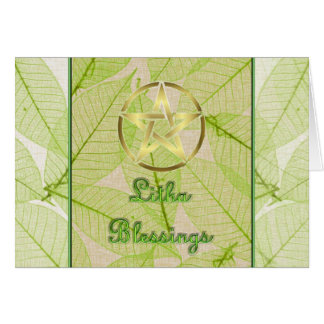Litha Summer Solstice Pagan Pentagram Card