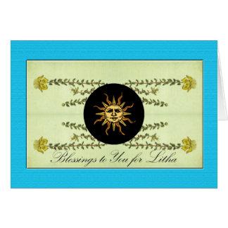 Litha, Summer Solstice, St. John's Wort Herb Card